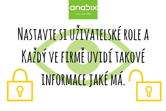 Reálný příklad nastavení uživatelské role vCRM systému Anabix