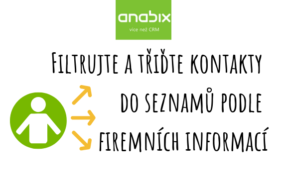 Třiďte si kontakty doseznamů podle firemních informací
